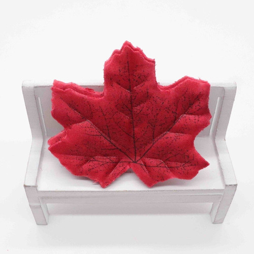 kit de folhas artificiais maple plátano canadenses 150fls