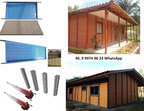 kit de formas p/fabricação casas pré moldada promoção