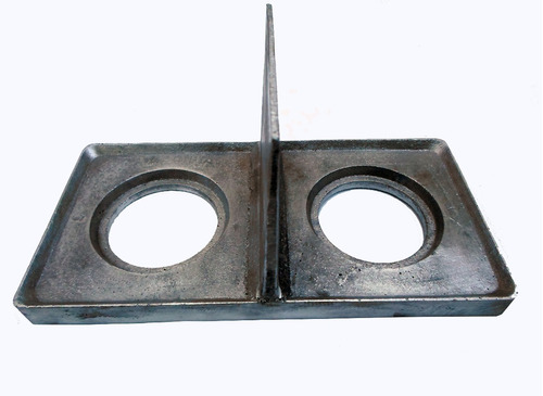 kit de formas tijolo ecologico 12.5 x 25 cm aluminio prensa