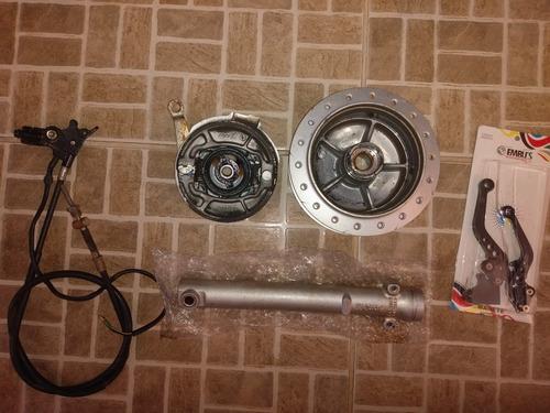 kit de freio a tambor de motocicleta fam 125 ano 2011.