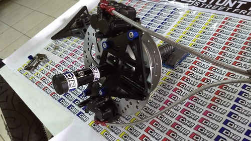 kit de freio duplo cg 150 012 stunt parts wheeling traseiro