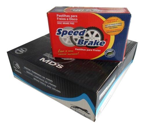 kit de freio pastilha e disco sólido fiat uno fire 01/