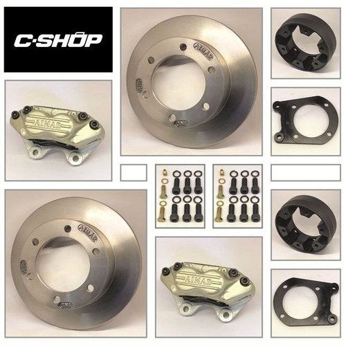 kit de frenos a discos ford f350 6 agujeros  traseros c-shop