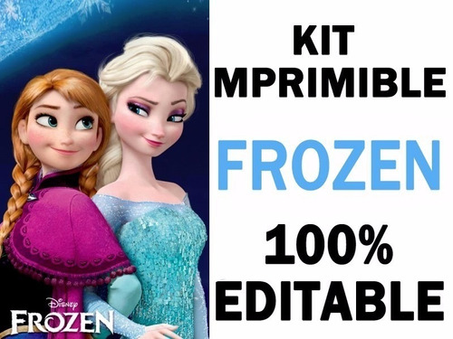 kit de frozen super imprimible invitaciones edición 2017