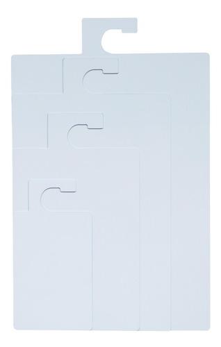 kit de gabarito dobra roupa com 4 peças em psai branco fosco
