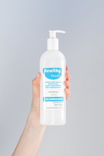kit de gel antibacterial healthy hands 60g, 150g y 500g