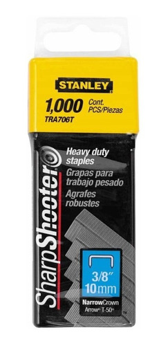 kit de grapas uso rudo 3/8 in 1000 pzs  tra206t stanley