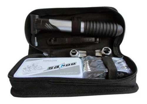 kit de herramientas 12 en 1 reparación de bicicletas maletín