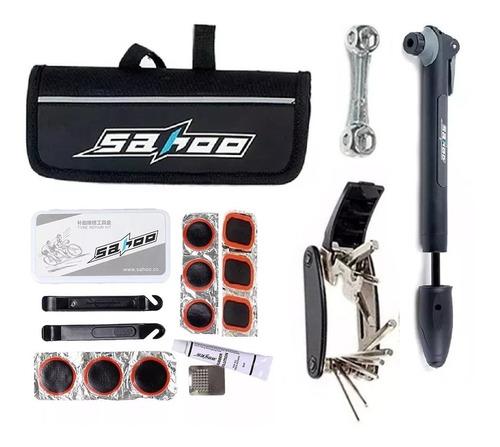 kit de herramientas 12 en 1 reparación de bicicletas maletin