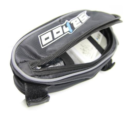 kit de herramientas corta cadena + bolso + inflador + parche