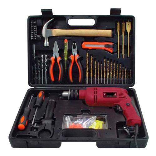 kit de herramientas nappo con taladro 500w y maletin loi