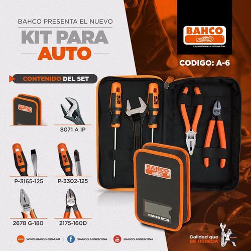 kit de herramientas para auto bahco + estuche kit auto a-6