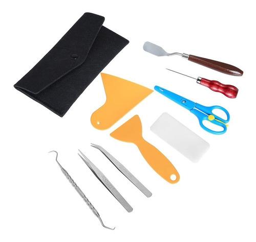 kit de herramientas para vinilo tijera espatula craft arte