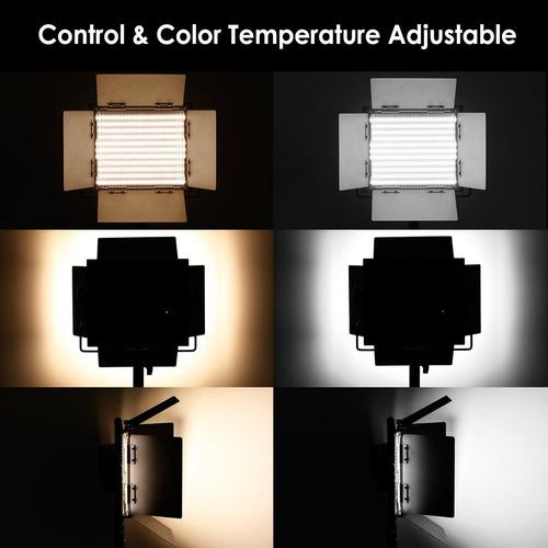 kit de iluminacion 3 lamparas de 660 leds con soporte msi