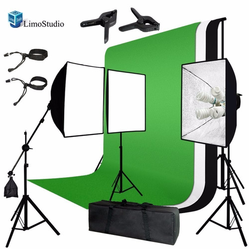 kit de iluminación caja de luz fondo negro blanco verde dgv