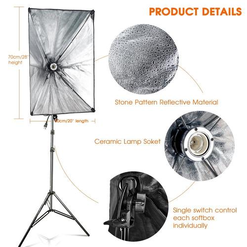 kit de iluminación fotografía 1600 w foco de iluminación