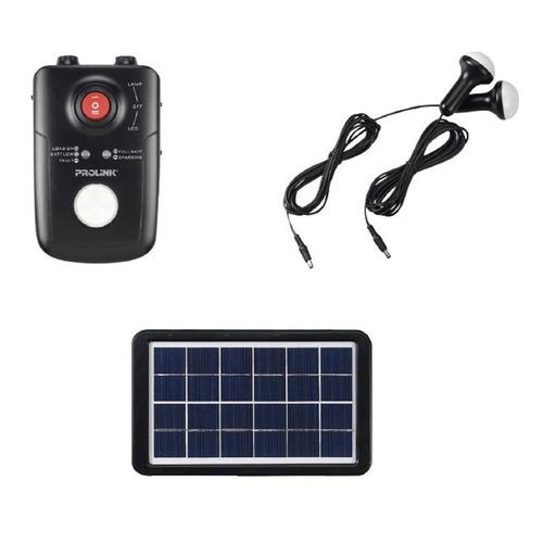 kit de iluminacion panel solar 3w lámparas led + bateria
