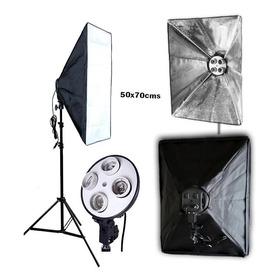 Kit De Iluminacion Softbox 50x70+tripode De1.90 Socket X4