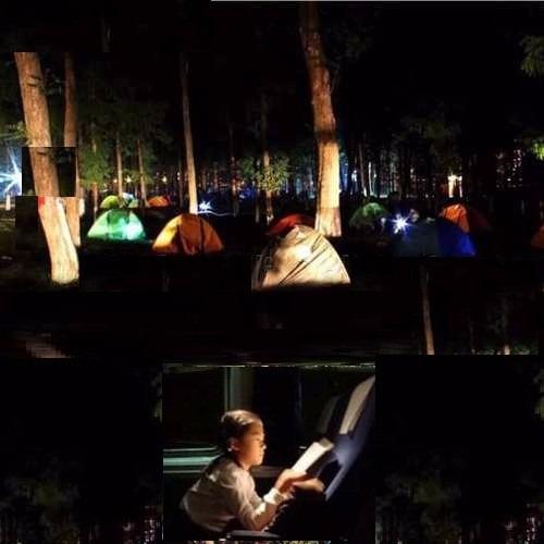 kit de iluminacion solar acampar viajes zonas rurales con fm