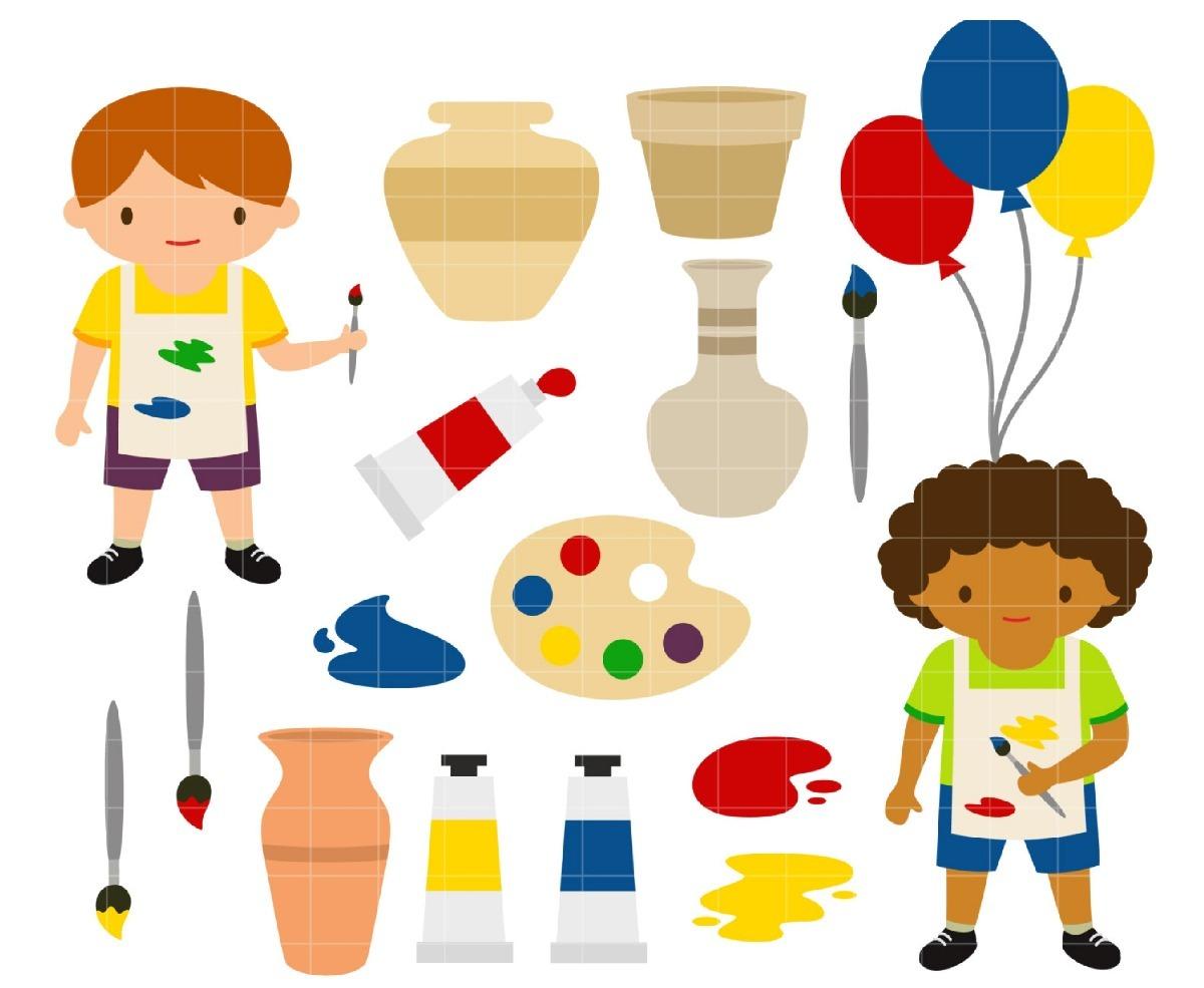 Kit De Imágenes Digitales Arte Pintura Niños Pintando - $ 16,00 en ...