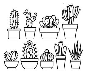 Kit De Imágenes Digitales Cactus Para Pintar