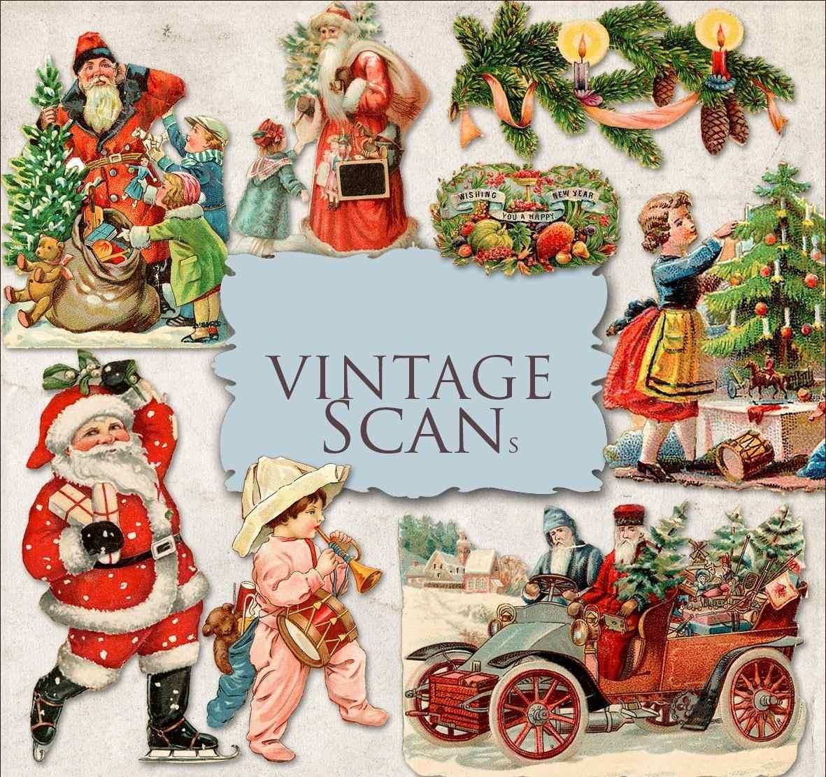 Kit De Imagenes Digitales Navidad Vintage 1600 En Mercado Libre - Vintage-imagenes