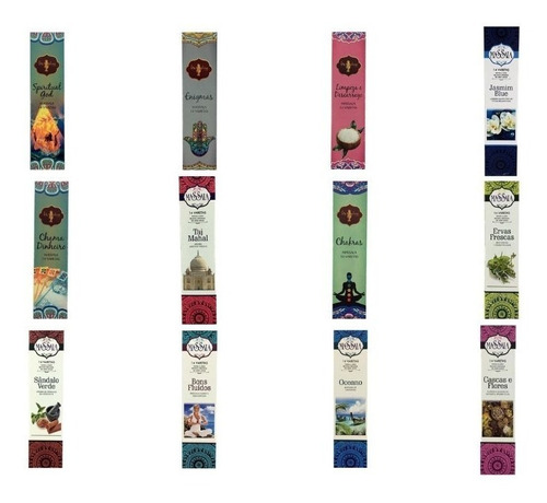 kit de incensos massala indianos 20 caixas com 14 varetas cd