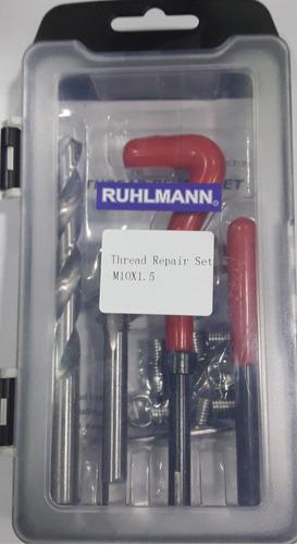 kit de insertos 10x1.50 reparador de roscas con mecha macho