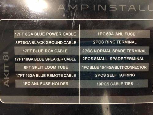 kit de instalación audiobahn  para fuente calibre 8 akit-8i