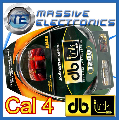 kit de instalacion cables db link xk4z calibre 4 1200 watts