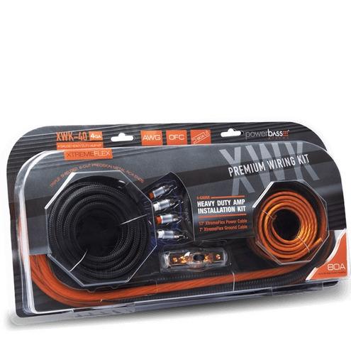 kit de instalación calibre 4 powerbass xwk-40 100% cobre
