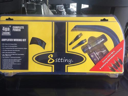 kit de instalación de amplificador calibre 4 1000 watts 4ga