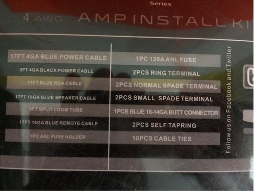 kit de instalación para fuente amplificador cal 4 audiobahn