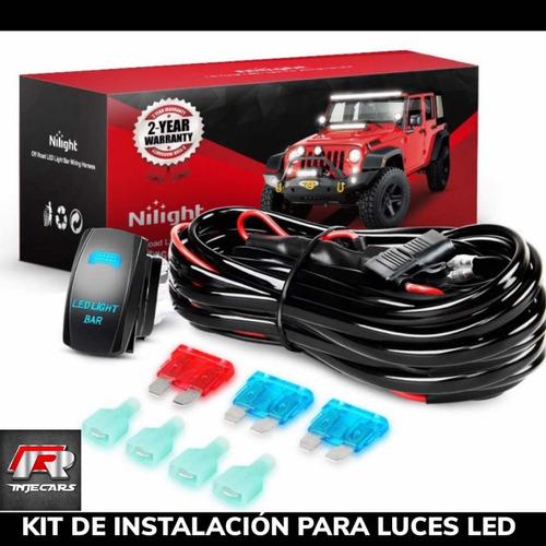 kit de instalación para luces y barras led