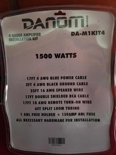kit de instalación sonido cable 4