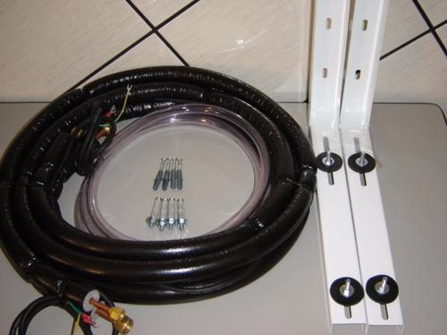 kit de instalação ar split 9 / 12000btus 3 metros + suporte