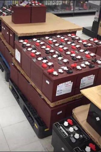 kit de inversor 1.5 kw con dos baterias trojan rojas 12 volt