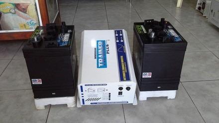 kit de inversor con sus baterias, solo por $12400