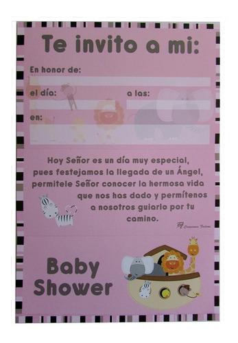 kit de invitaciones para baby shower | arca de noé