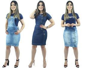 f968057c0 Saia Jeans Evangelica Vestidos Saias Lycra - Calçados