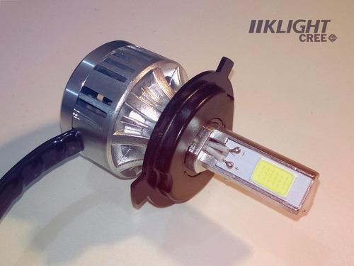 kit de lampara led cree klight moto  reemplaza xenon h4