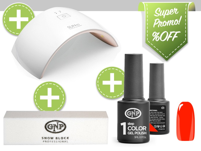 Kit De Lampara Uvled, Bloque Pulidor Esmalte En Gel Gnp Rojo ...