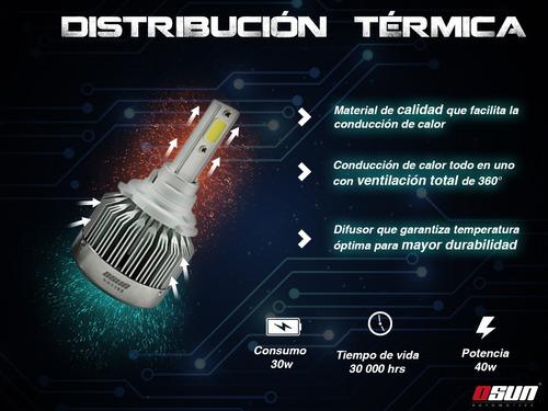 kit de led osun® c1 tipo xenón para faros principales y auxiliares luces independientes h7 h1 9005 h11 9006 h3 5202 880