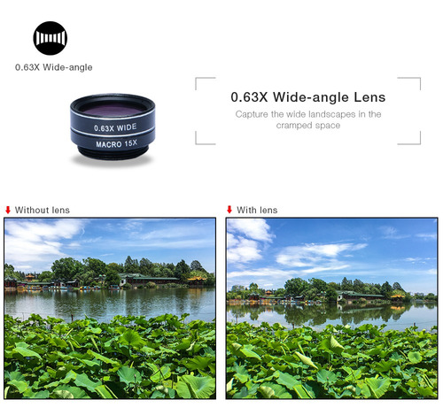 kit de lentes de cámara para teléfono apexel apl - dg7