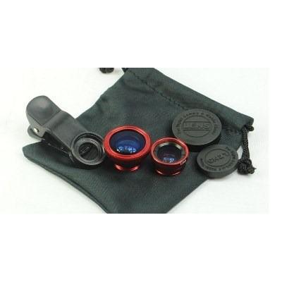 kit de lentes fish eye e macro para iphone 4 ,4s ,5 e outros
