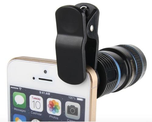 kit de lentes para celular 5 en 1 con tripie y bluetooth