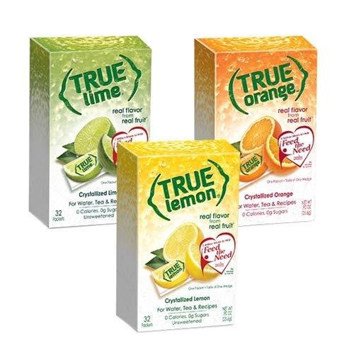 kit de limón verdadero limón, naranja, lima 32ct cada uno