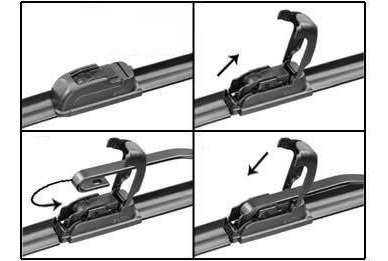 kit de limpador de parabrisa palheta silicone monza kadett