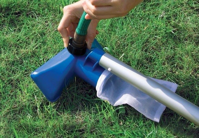 Kit de limpeza manuten o piscina intex aspirador peneira for Kit aspirateur intex