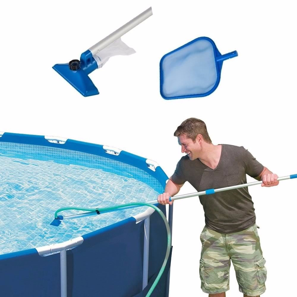 Kit de limpeza manuten o piscina intex aspirador for Kit de piscina